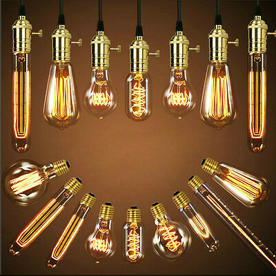 Vintage Retro Filament Edison Antique Industrial Style Lamp Light Bulb E27 40W 10