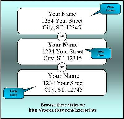 400 Return Address Labels. 1/2 x 1.75 Inch White Labels. Easy Peel & Stick. 2