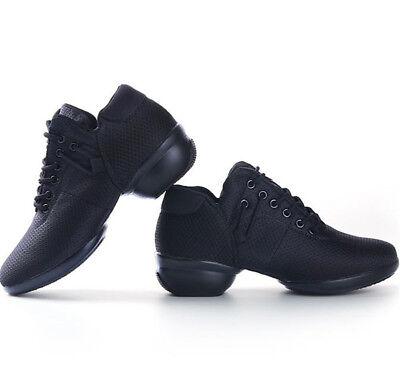 35-41 Ladies Lycra Dance Shoes Comfortable Round Toe 4CM Heel Sports Trainers 9