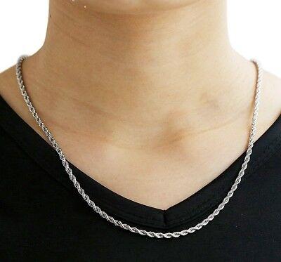 Kordelkette Armband Edelstahl Silber Gold Schwarz für Anhänger Halskette Unisex 11
