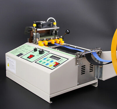 110V US Automatic Computer Control Hot Cold Textile Weave Belt Cutting Machine 4