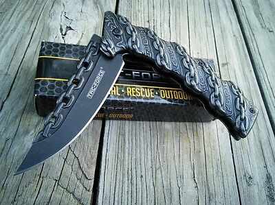 """8.25"""" TAC FORCE CHAIN SPRING ASSISTED Open Folding Pocket Knife Combat Tactical 6"""