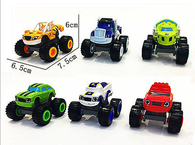 6x Blaze and the Monster Machines Vehicles Diecast Toy Racer Cars Trucks Kid Set 4
