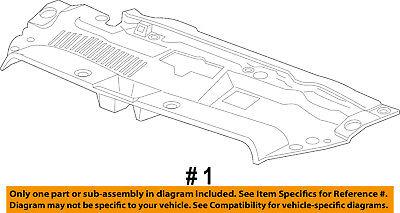 Chevrolet GM OEM Radiator Core Support-Sight Shield Splash Cover Panel 39026959