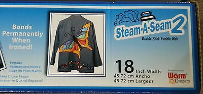 "Warm Company STEAM-A-SEAM 2 ~ FUSIBLE WEB ~ 24/"" X 2 YARDS #5524"