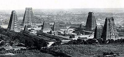 Tempel in Tiruvannamalai in Indien 1925 XL Fotoabb. Südindien Tempelanlage +