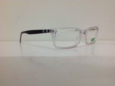 Occhiale vista Benetton Mod 201 largo 12,6 Cm Blu Bambino Trasparente Blu Bianco 5