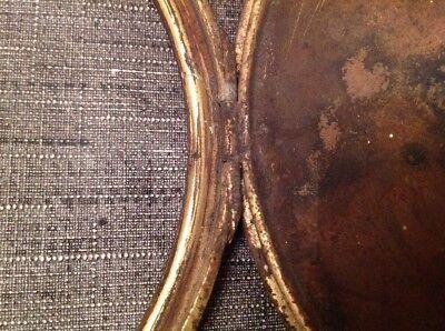 Antique Clock Case Spare Parts Bezel Back Door Unusual Carriage Handle 10