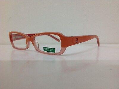 Occhiale vista Benetton Mod 01481 largo 12,3 cm Bianco bambina Arancione Glitter 4