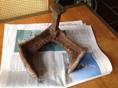 Vintage Triple Shoe Last Shoemakers Tool Heavy Door Stop Snows Cast Iron 10