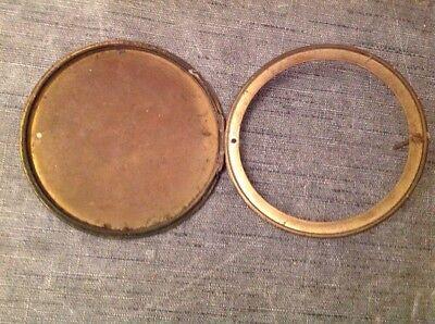 Antique Clock Case Spare Parts Bezel Back Door Unusual Carriage Handle 4