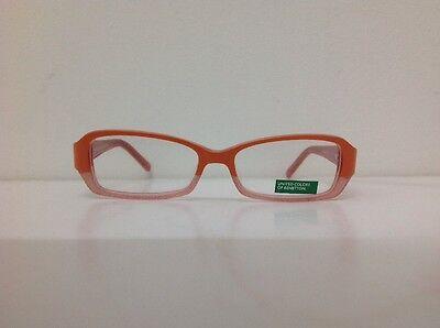 Occhiale vista Benetton Mod 01481 largo 12,3 cm Bianco bambina Arancione Glitter 3
