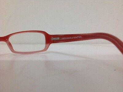 Occhiale vista Benetton Mod 01481 largo 12,3 cm Bianco bambina Arancione Glitter 7