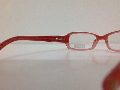 Occhiale vista Benetton Mod 01481 largo 12,3 cm Bianco bambina Arancione Glitter 6