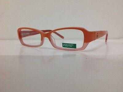 Occhiale vista Benetton Mod 01481 largo 12,3 cm Bianco bambina Arancione Glitter 10