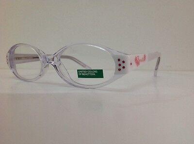 Occhiale da vista Benetton Mod 015 largo 11,5 cm Bianco Con Strass bambina bianc 3
