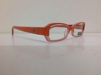 Occhiale vista Benetton Mod 01481 largo 12,3 cm Bianco bambina Arancione Glitter 5