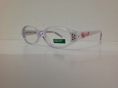 Occhiale da vista Benetton Mod 015 largo 11,5 cm Bianco Con Strass bambina bianc 10
