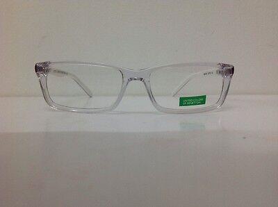 Occhiale vista Benetton Mod 201 largo 12,6 Cm Blu Bambino Trasparente Blu Bianco 4
