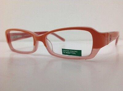 Occhiale vista Benetton Mod 01481 largo 12,3 cm Bianco bambina Arancione Glitter 9