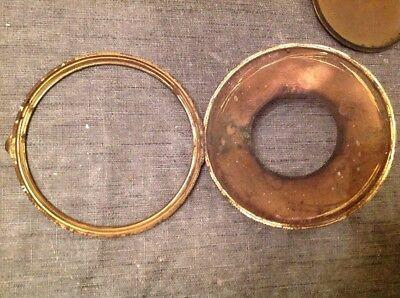 Antique Clock Case Spare Parts Bezel Back Door Unusual Carriage Handle 9