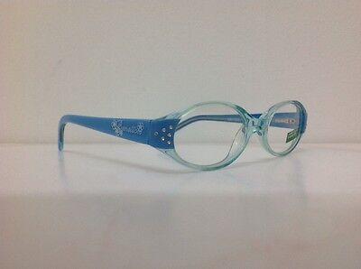 Occhiale da vista Benetton Mod 015 largo 11,5 cm Bianco Strass bambina Celeste 4