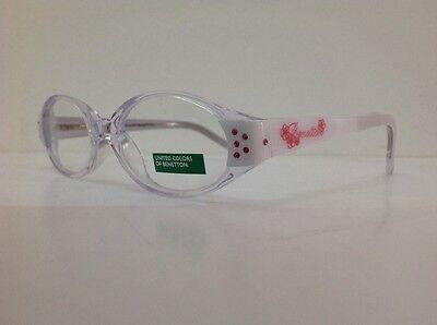 Occhiale da vista Benetton Mod 015 largo 11,5 cm Bianco Con Strass bambina bianc 9