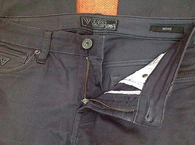 Pantaloni Jeans Guess Ragazzo 5 Tasche Taglia 44 Grigio Scuro Cotone Vita 86 4