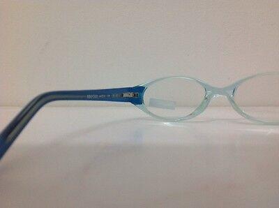 Occhiale da vista Benetton Mod 015 largo 11,5 cm Bianco Strass bambina Celeste 6