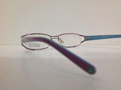 Occhiale da vista Benetton Mod 024 largo 11cm metallo celeste plastica rosa 6