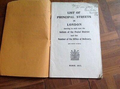 List of Principal Streets in London Postal District March 1917 Paperback Vintage 3