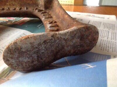 Vintage Triple Shoe Last Shoemakers Tool Heavy Door Stop Snows Cast Iron 8