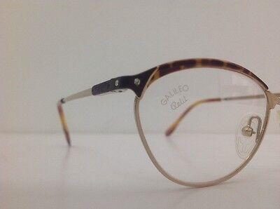 Galileo Occhiale Da Vista Junior Bambina Oro Strass Asta Flex Gatta12cm Frontale 10