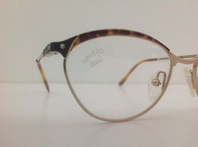 Galileo Occhiale Da Vista Junior Bambina Oro Strass Asta Flex Gatta12cm Frontale 9
