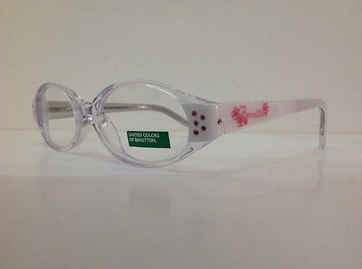 Occhiale da vista Benetton Mod 015 largo 11,5 cm Bianco Con Strass bambina bianc 8