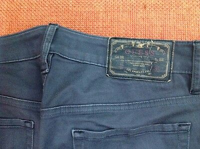 Pantaloni Jeans Guess Ragazzo 5 Tasche Taglia 44 Grigio Scuro Cotone Vita 86 2