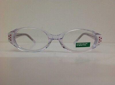 Occhiale da vista Benetton Mod 015 largo 11,5 cm Bianco Con Strass bambina bianc 2