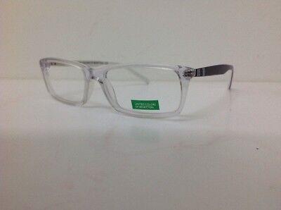 Occhiale vista Benetton Mod 201 largo 12,6 Cm Blu Bambino Trasparente Blu Bianco 9