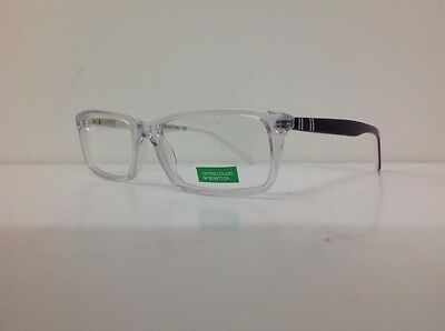 Occhiale vista Benetton Mod 201 largo 12,6 Cm Blu Bambino Trasparente Blu Bianco 3