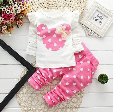 Baby clothes kids girls tops+pants Set Outfits autumn clothing dot 3