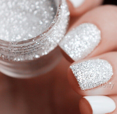 Nail Glitter Sequins Powder Rose Gold Nail Art White Silver Mixed  3D Decoration 3