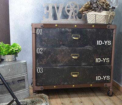 Loft Kommode Schrank Design Industrie Vintage Sideboard Metall