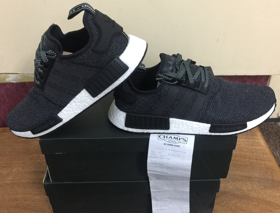 5d16c6438 Adidas NMD R1 3M Black Grey Champs Exclusive B39505 Size 9.5~12 AUTHENTIC 6  6 of 8 ...