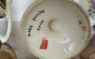 """3 alte Apotheken Amphoren Henkel Vase """"O Juniperi"""" Granada Handgemalt  Vintage 6"""