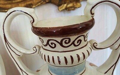 """3 alte Apotheken Amphoren Henkel Vase """"O Juniperi"""" Granada Handgemalt  Vintage 8"""