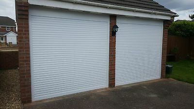 White Single Aluminium Insulated Electric Roller Garage Door Made In