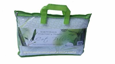 Bamboo Standard Memory Foam Cot Pillow Bed Baby Soft Toddler Sleeping Kid Pack 4 11
