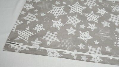 PILLOW CASE 100 % COTTON COVER 40x60 cm for COT JUNIOR BED PATTERN STARS FLOWERS 2
