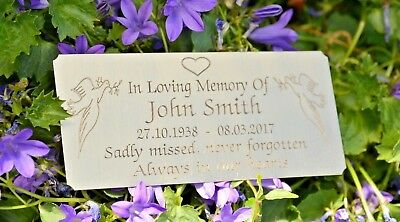 """Solid Brass Memorial Bench Plaque Grave Marker Sign 5""""X2"""" Personalised Engraved 5"""