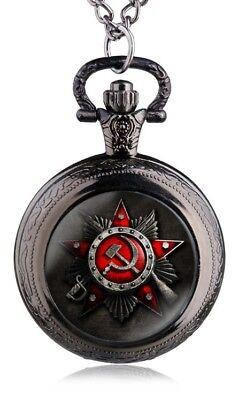 Russian Pocket Watch CCCP Hammer Sickle Army Cold War Old KGB WW2 WW1 Army Retro 3